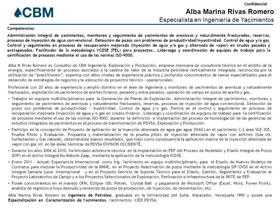 Confidencial Alba Marina Rivas Romero Especialista en Ingeniería de ...