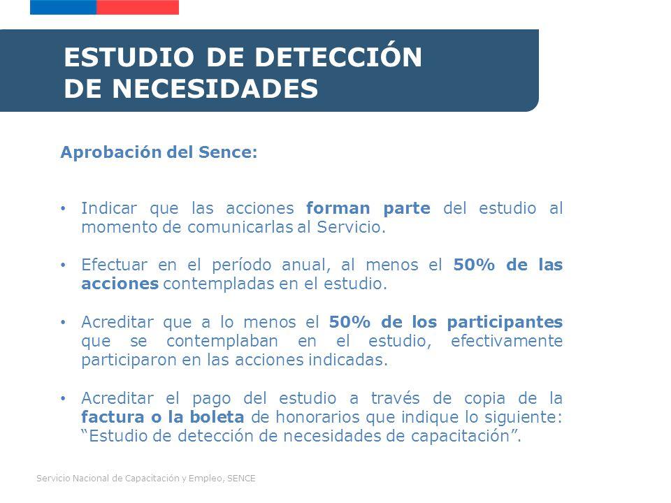 Servicio Nacional de Capacitación y Empleo, SENCE COMITÉ BIPARTITO DE CAPACITACIÓN Beneficio: 20% adicional a las acciones de capacitación con acuerdo del Comité Bipartito (valor hora Sence 5.000 + 20% = $6.000).