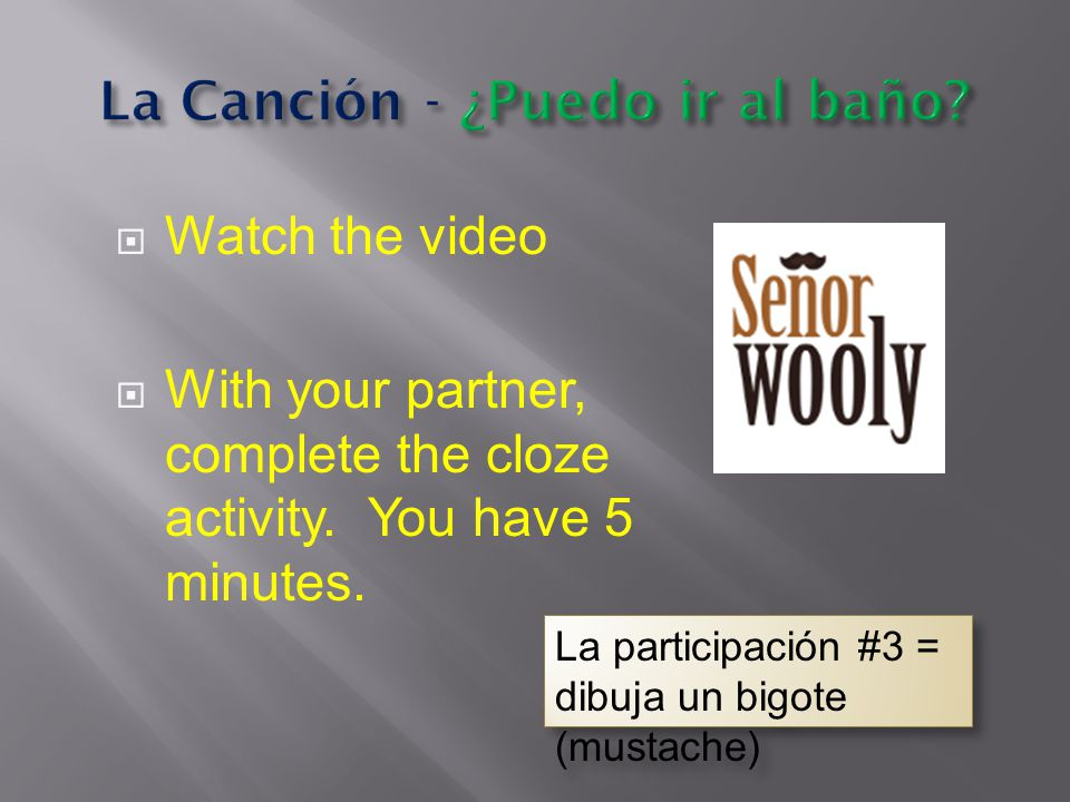  Watch the video  With your partner, complete the cloze activity.