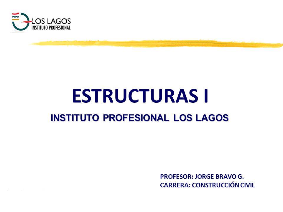 ESTRUCTURAS I INSTITUTO PROFESIONAL LOS LAGOS PROFESOR: JORGE BRAVO G. CARRERA: CONSTRUCCIÓN CIVIL