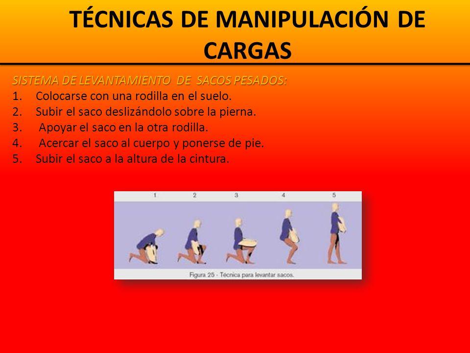 TÉCNICAS DE MANIPULACIÓN DE CARGAS MOVER Y COLOCAR BLOQUES O LADRILLOS Levantar los bloques con los pies y el cuerpo en la misma dirección.