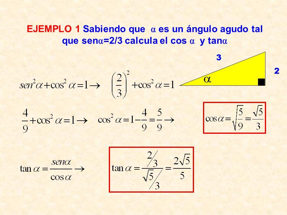 Aplicando Pitágoras en el triángulo rectángulo de hipotenusa la unidad: IGUALDADES TRIGONOMÉTRICAS Como consecuencia de la primera igualdad se cumple: