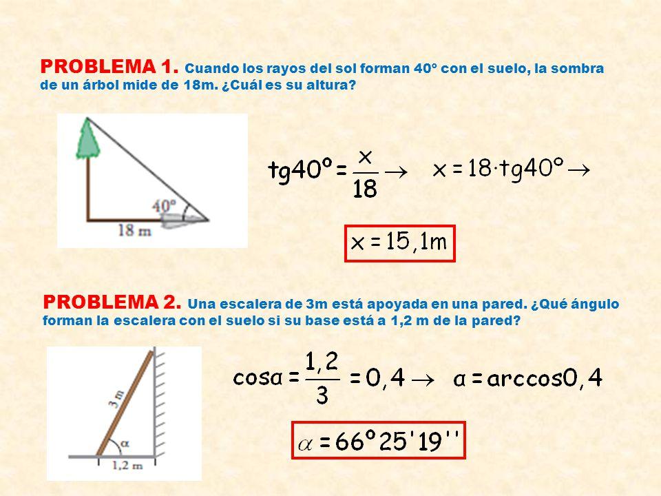 RESOLUCIÓN DE TRIÁNGULOS RECTÁNGULOS CASO 2 : DATOS ; LOS DOS CATETOS Los dos catetos de un triángulo rectángulo miden 17cm y 40cm. Hallar los ángulos