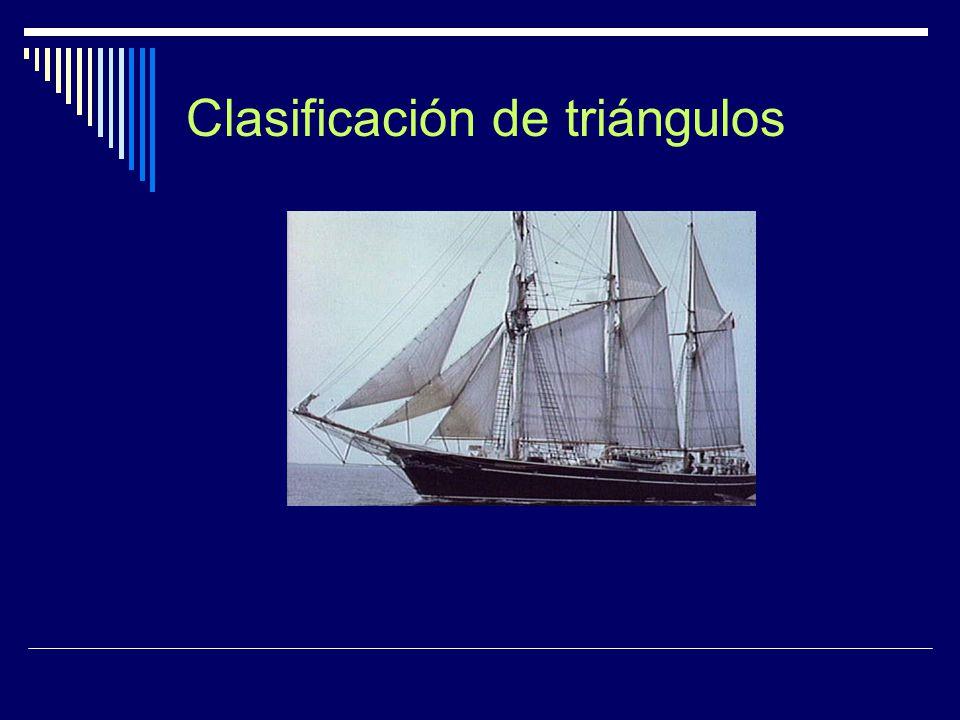DEFINICION DE TRIANGULO  El triángulo es una figura plana limitada por tres segmentos  Para nombrar un triángulo se puede usar las tres letras de sus vértices en cualquier orden, y sus lados por un par de estas letras  TRIÁNGULO ABC  LADOS AB, AC; BC A B C