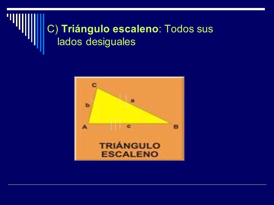 Los triángulos también se pueden clasificar según la medida de sus ángulos de la siguiente forma : 1.