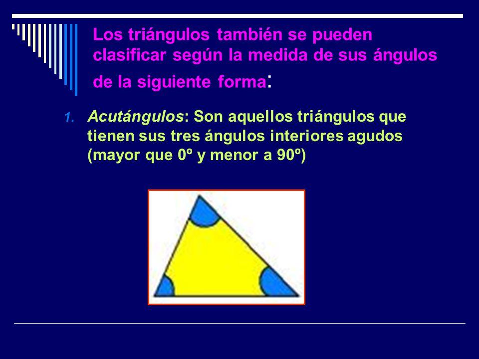 2.- Triángulo Rectángulo: tiene un ángulo recto. (90º)