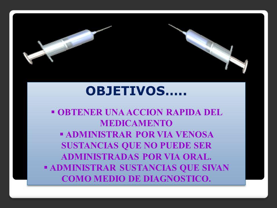 1.Comprobar si la orden dice intravenosa. 2. Sacar el aire antes de administrar el medicamento.