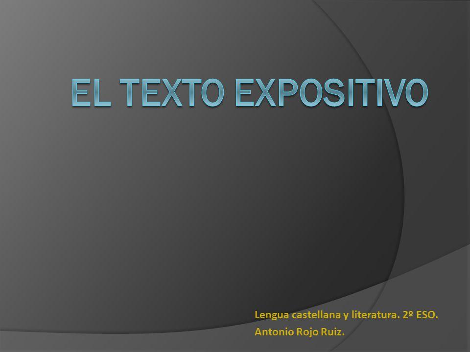 Lengua castellana y literatura. 2º ESO. Antonio Rojo Ruiz.