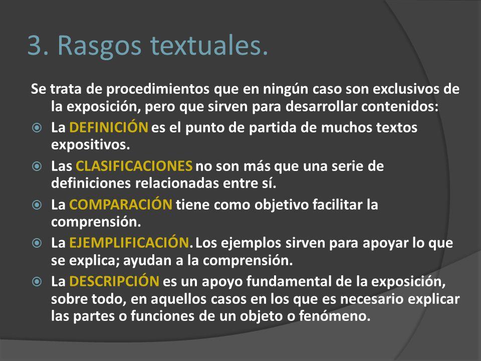 3.Rasgos textuales.