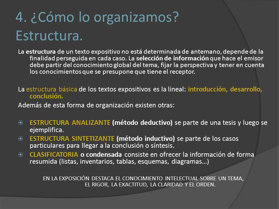 4.¿Cómo lo organizamos. Estructura.