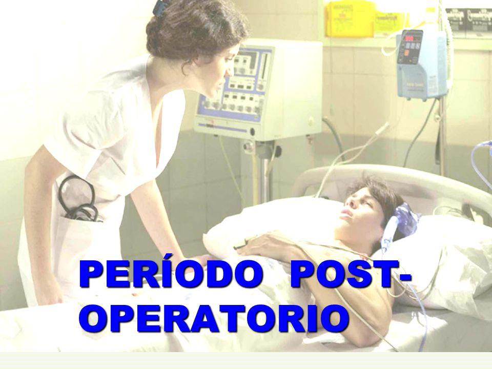 Comprende desde el 2° día hasta el alta médica; tiene dos etapas: Período intrahospitalario: El paciente está en sala de cuidados comunes o en cuidados mínimos.