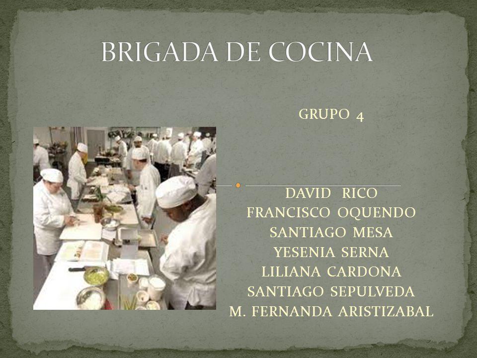 GRUPO 4 DAVID RICO FRANCISCO OQUENDO SANTIAGO MESA YESENIA SERNA LILIANA CARDONA SANTIAGO SEPULVEDA M. FERNANDA ARISTIZABAL