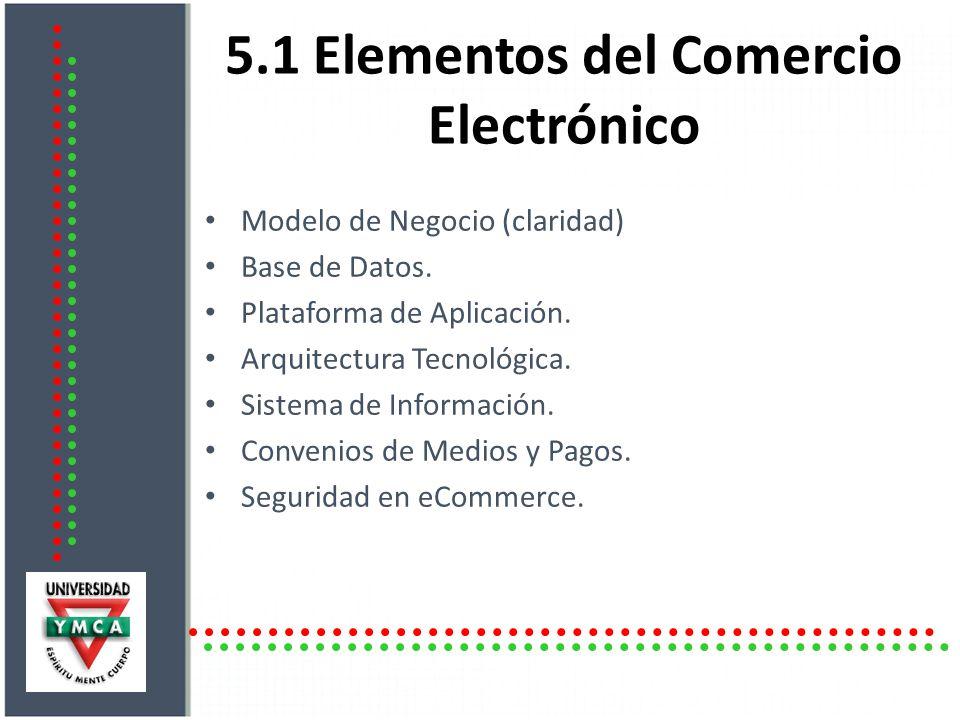 5.1 Elementos del Comercio Electrónico