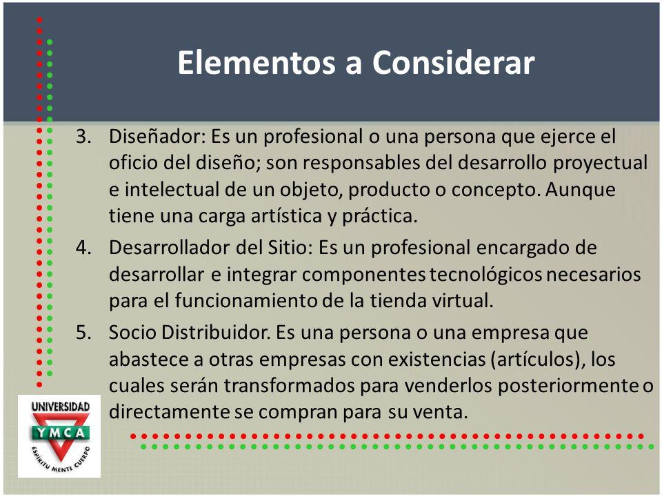 Elementos a Considerar 6.Proveedor de Servicio de Hosting.