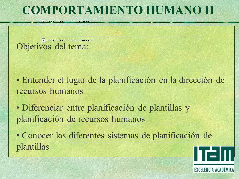 COMPORTAMIENTO HUMANO II Dr. Miguel Ángel Sastre Castillo Planeación ...