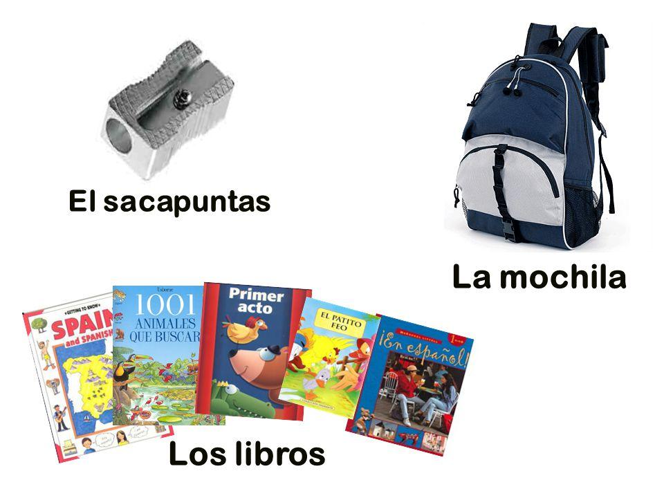 El sacapuntas La mochila Los libros
