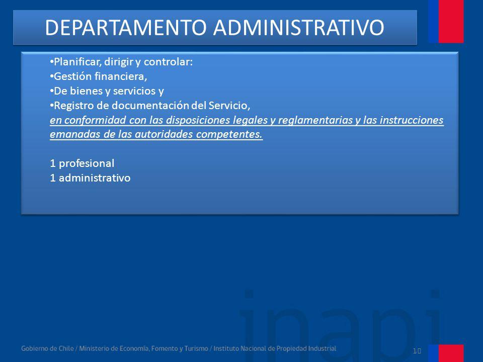 10 Subdepartamento de Finanzas y Contabilidad.