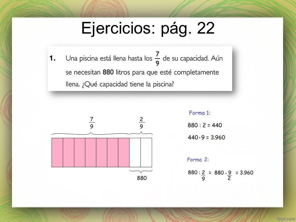 Ejercicios: pág. 22
