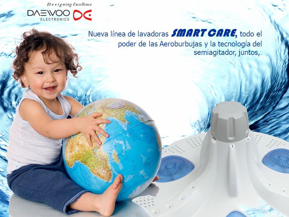 Nueva línea de lavadoras SMART CARE, todo el poder de las Aeroburbujas y la tecnología del semiagitador, juntos,.
