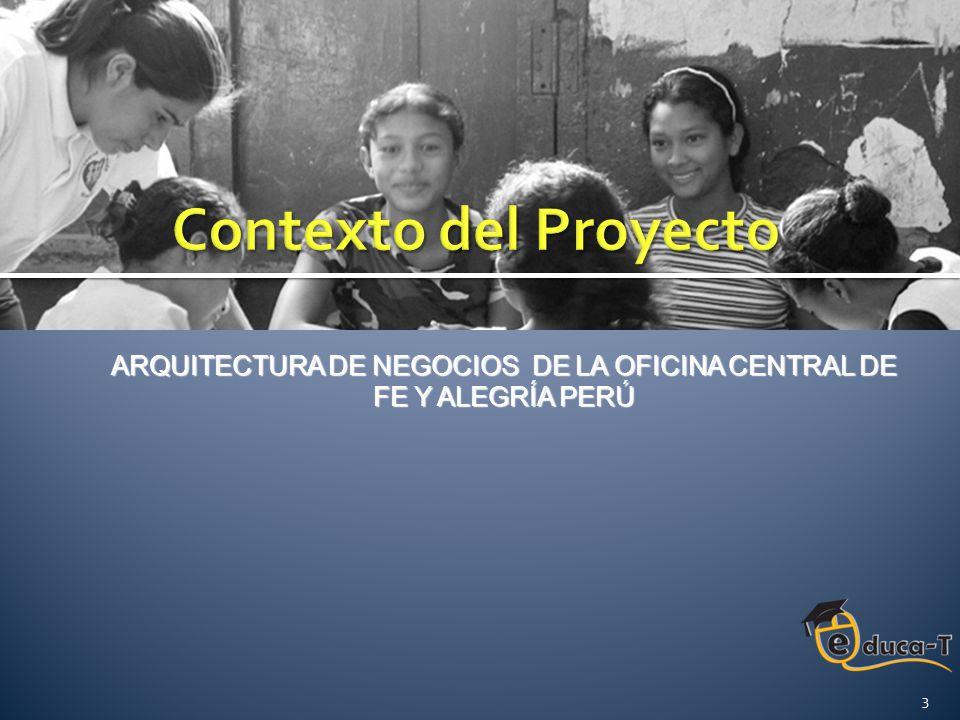 RIESGOSMITIGADO Falta de colaboración por parte de las autoridades de la Oficina Central de Fe y Alegría para ofrecer la información necesaria para el desarrollo del proyecto Arquitectura de Negocios de la Oficina Central de Fe y Alegría Perú .