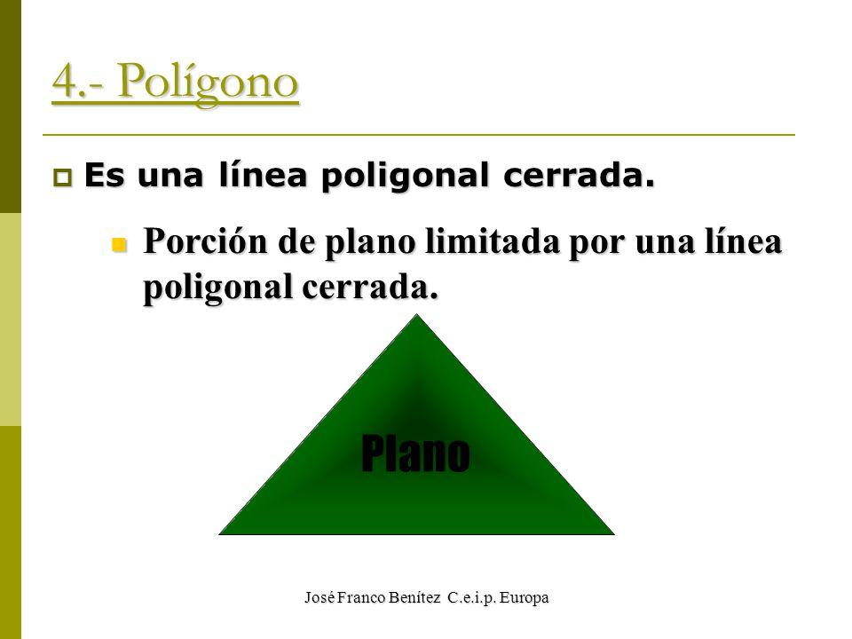 José Franco Benítez C.e.i.p. Europa 4.- Polígono EEEEs una línea poligonal cerrada.