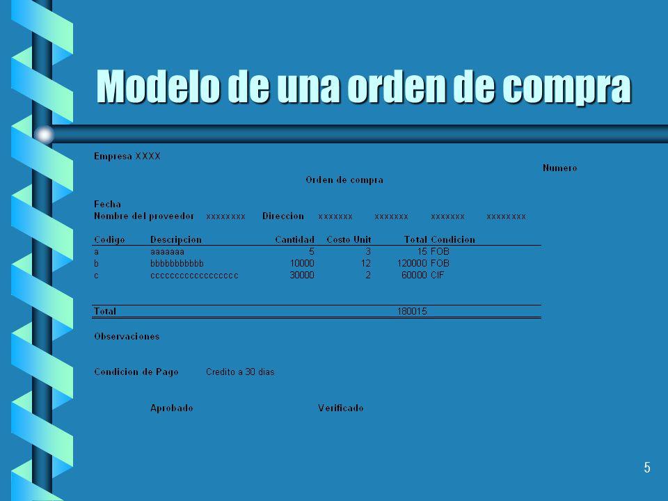 5 Modelo de una orden de compra