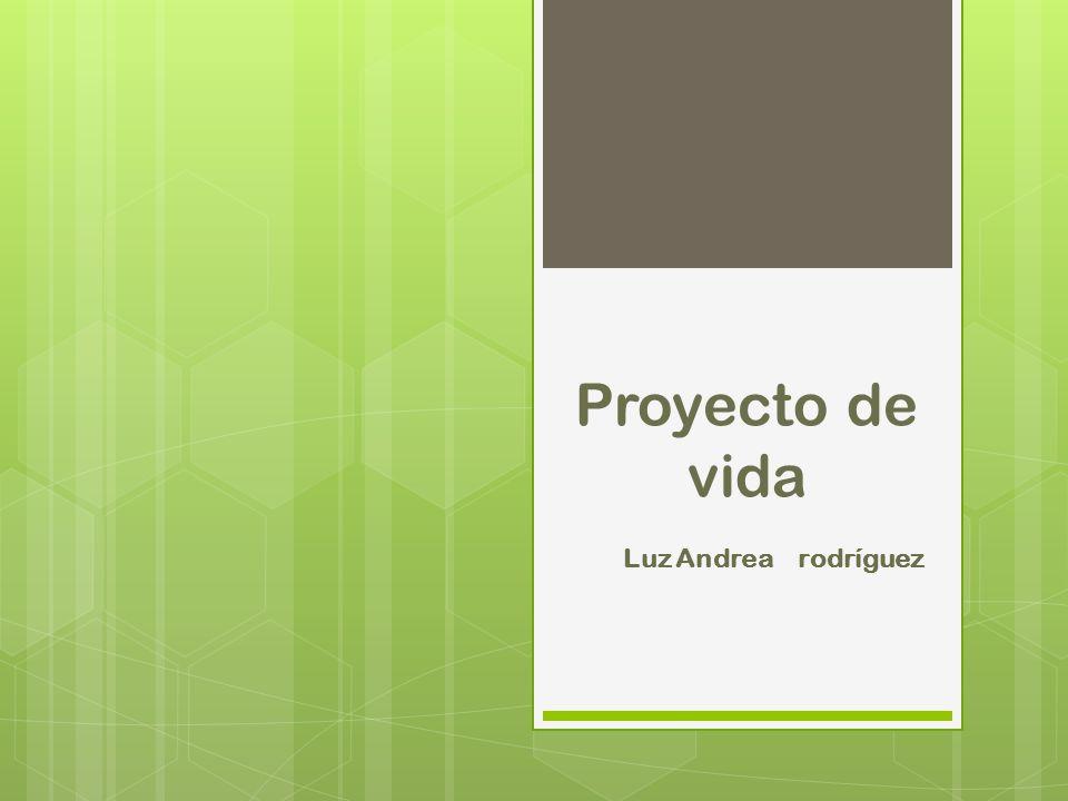 Proyecto de vida Luz Andrea rodríguez