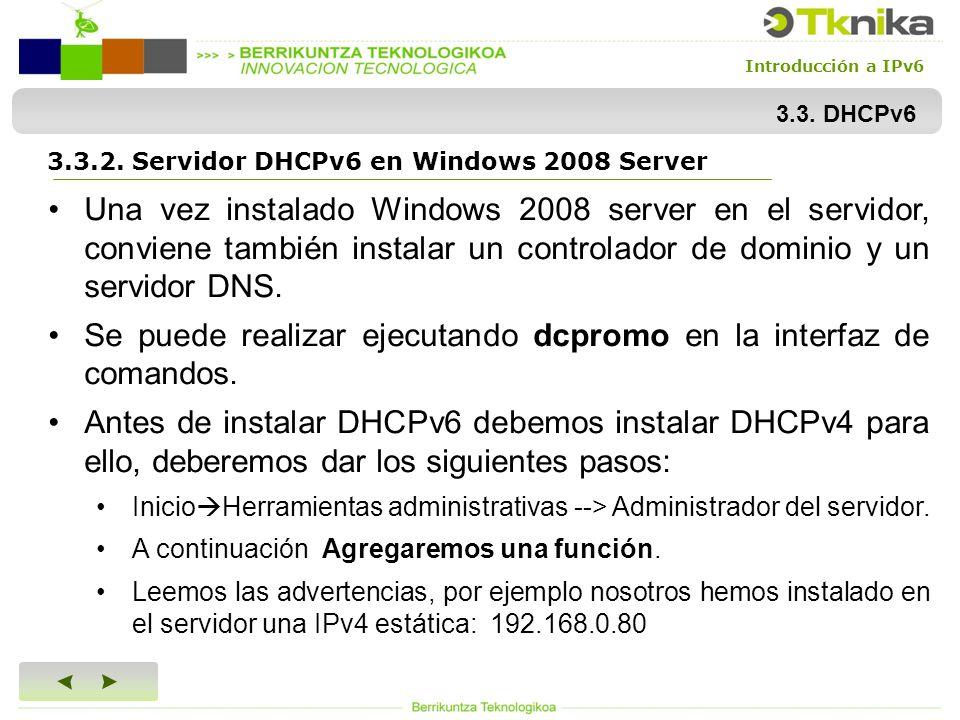 DIDACTIFICACION DE IPv DHCPv6. Introducción a IPv Introducción ...