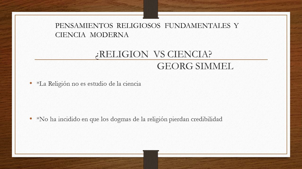 ¿RELIGION VS CIENCIA.