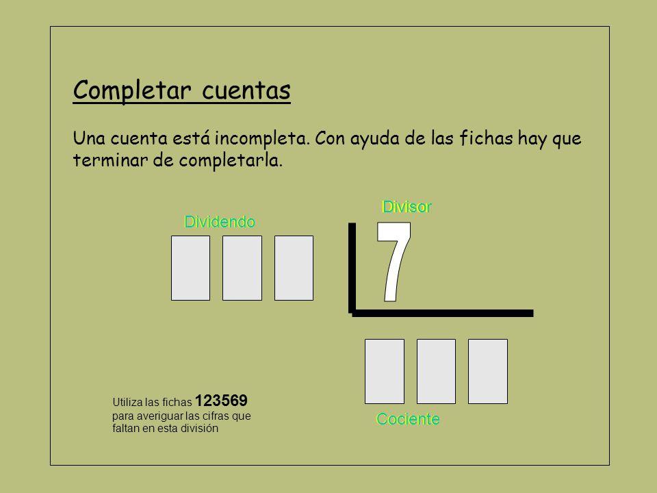 Cartones de numeración Para trabajar la numeración y el valor posicional, se utilizan, además de las fichas (sin el cero), unos cartones.