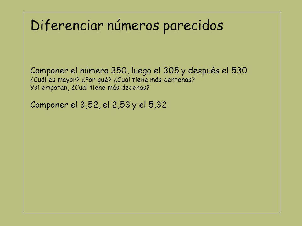 Ordenar números En un cartón, coloca el 256.En otro cartón coloca el 265 y en otro coloca el 652.