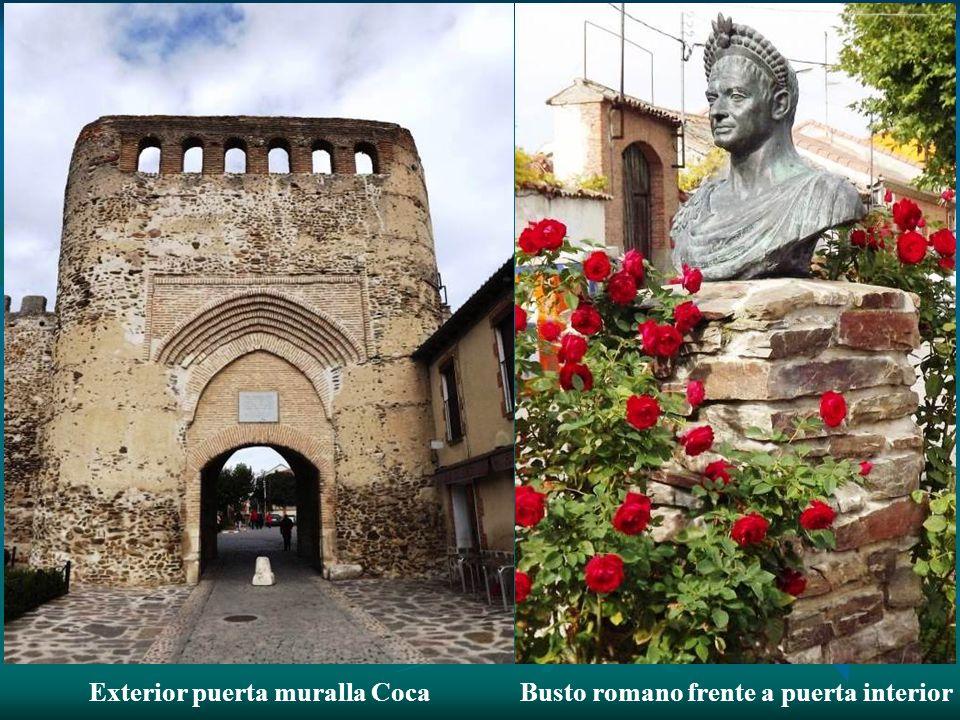Interior puerta muralla de Coca.- Sus materiales son el ladrillo y el calicanto y tienen un precioso estilo mudéjar ( de los siglos XII y XIII).