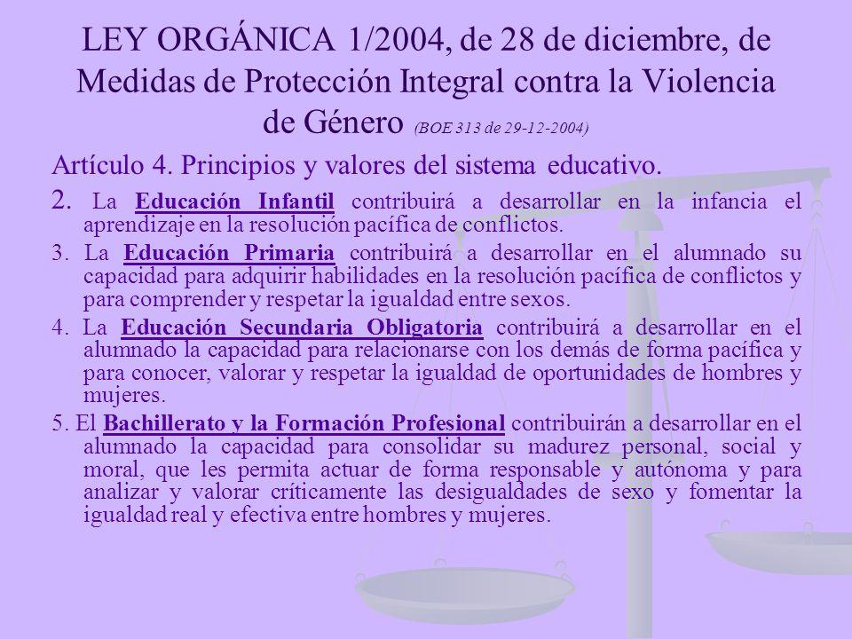 29 de la ley 3 2004 de 28: