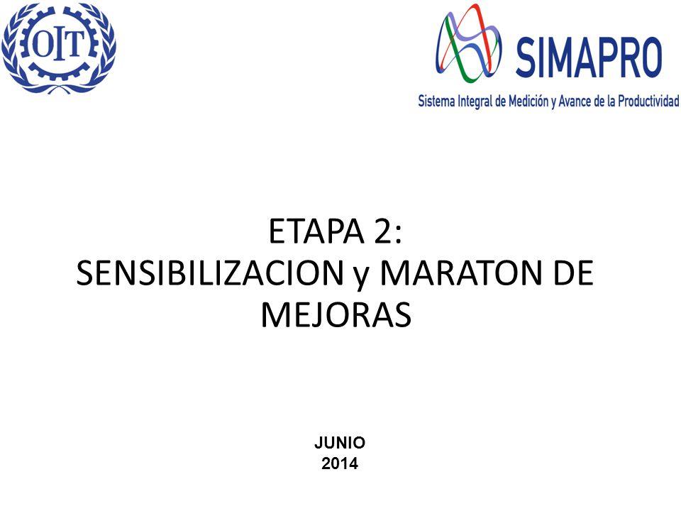 ETAPA 2: SENSIBILIZACION y MARATON DE MEJORAS JUNIO 2014