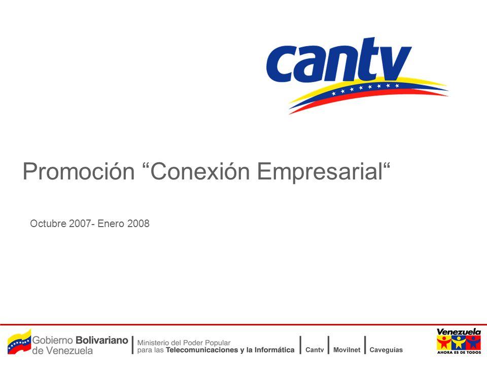 Octubre 2007- Enero 2008 Promoción Conexión Empresarial