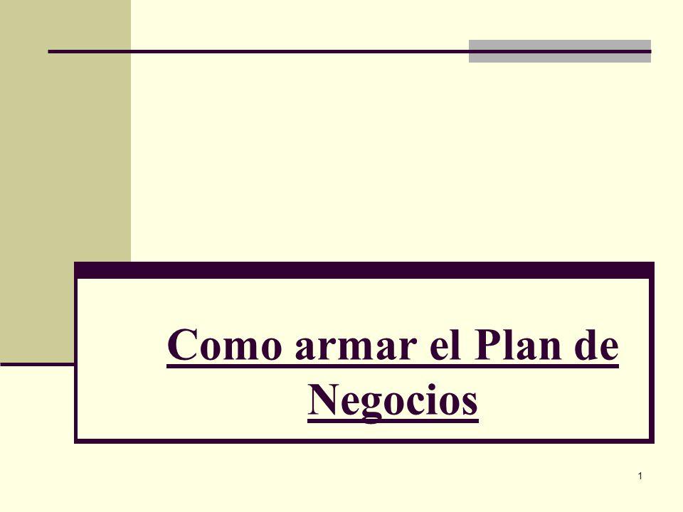 12 Como armar el Plan de Negocios 9.