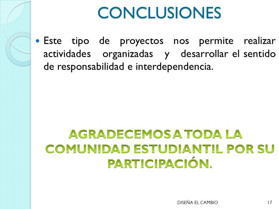 CONCLUSIONES DISEÑA EL CAMBIO17