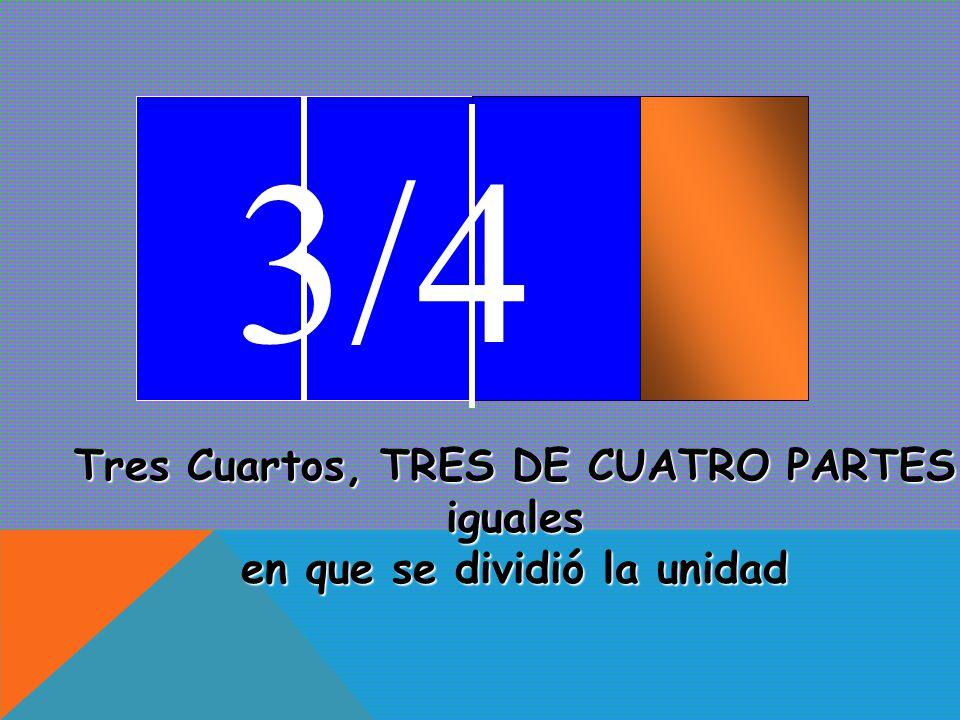 2/4 Dos Cuartos, DOS DE CUATRO PARTES iguales en que se dividió la unidad