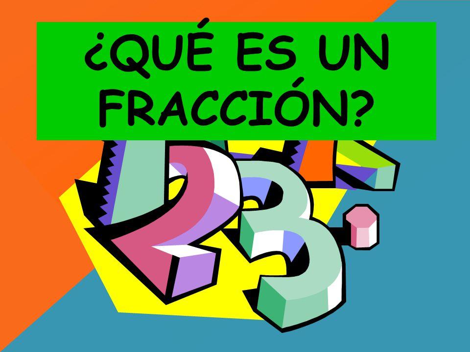 OBJETIVO: Comprender la fracción como la repartición de un todo en partes iguales.