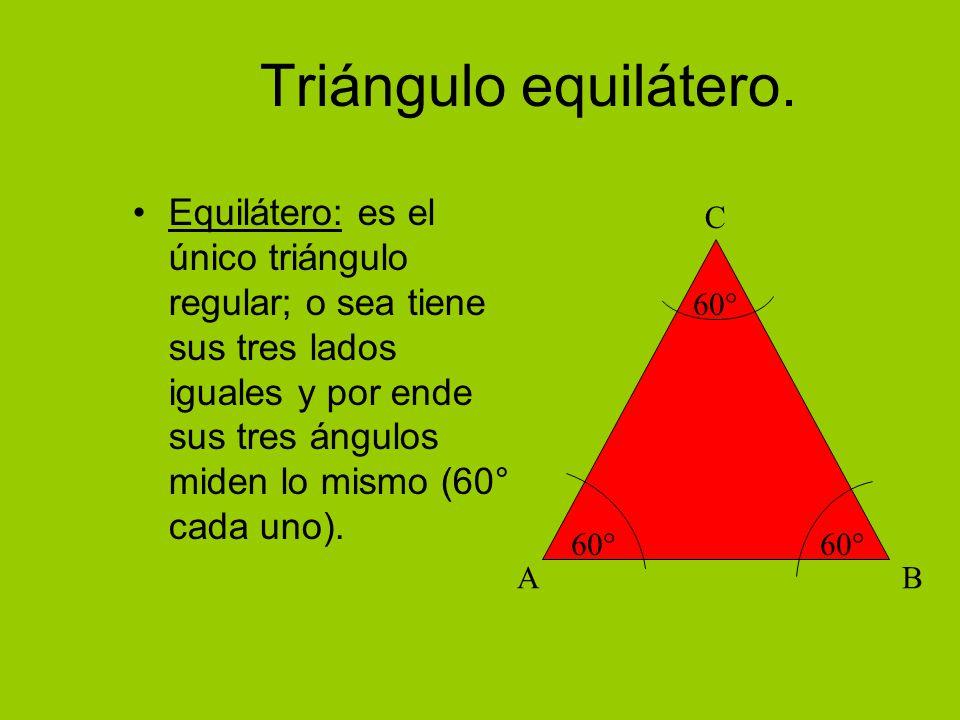 Triángulo equilátero.