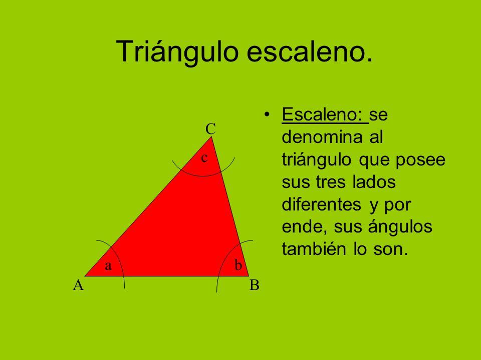 Triángulo escaleno.