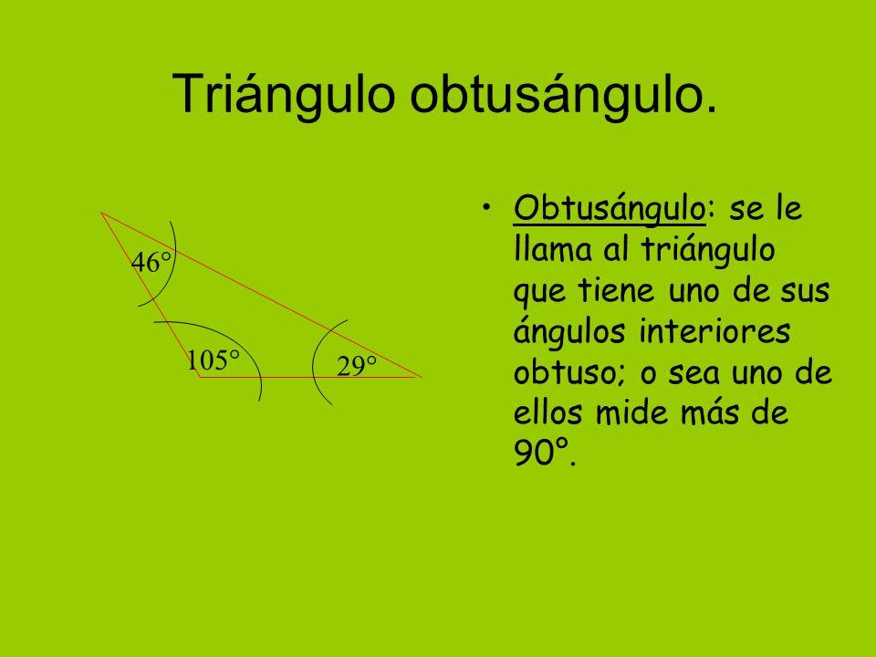 Triángulo obtusángulo.