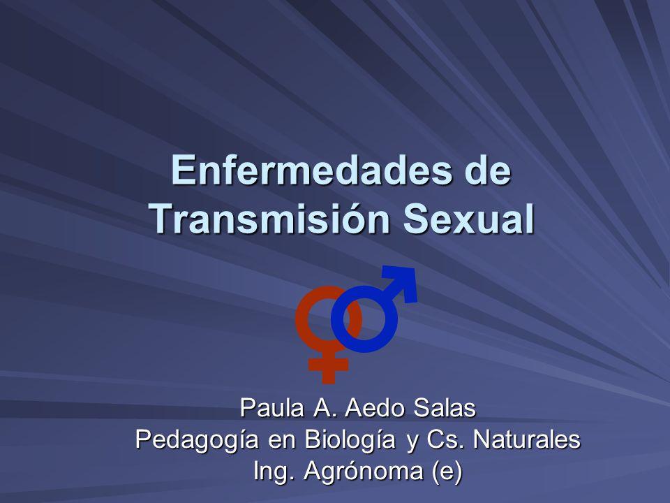 Enfermedades de Transmisión Sexual Paula A. Aedo Salas Pedagogía en Biología y Cs. Naturales Ing. Agrónoma (e)