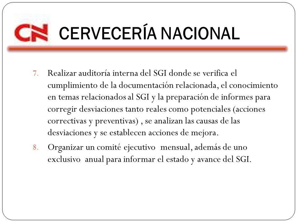 CERVECERÍA NACIONAL 7.