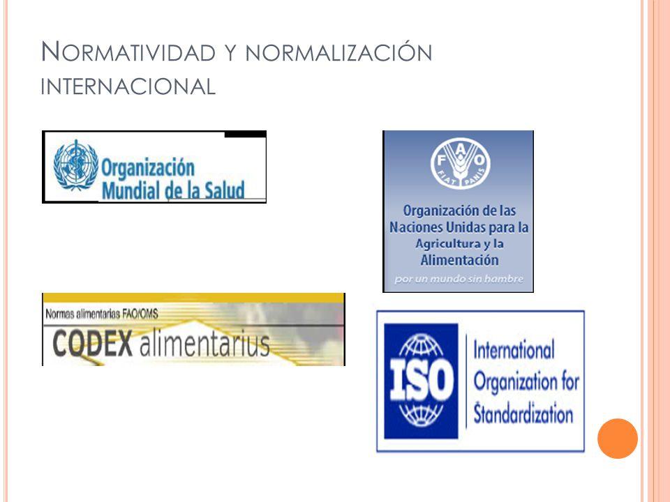 N ORMATIVIDAD Y NORMALIZACIÓN INTERNACIONAL