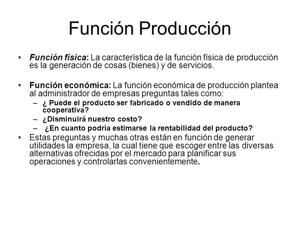 Función Producción Sistema de planeación.