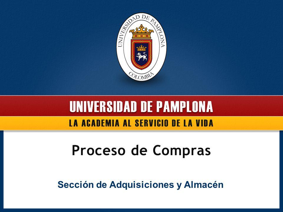 Proceso de Compras Sección de Adquisiciones y Almacén