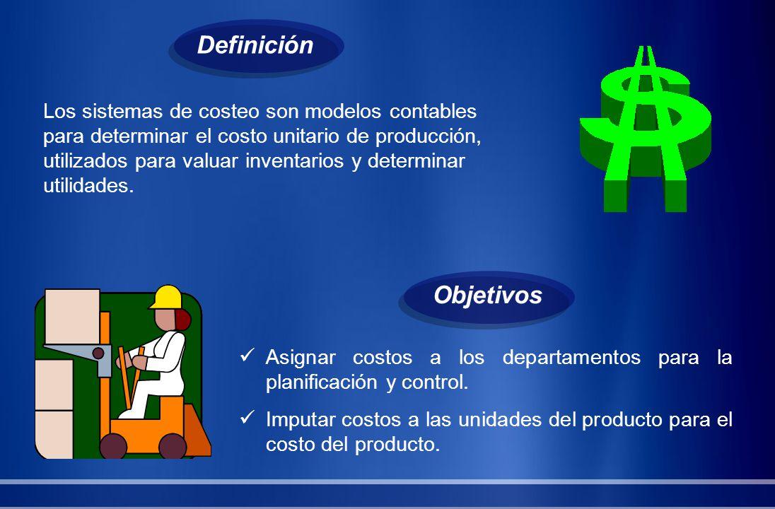Los sistemas de costeo son modelos contables para determinar el costo unitario de producción, utilizados para valuar inventarios y determinar utilidad