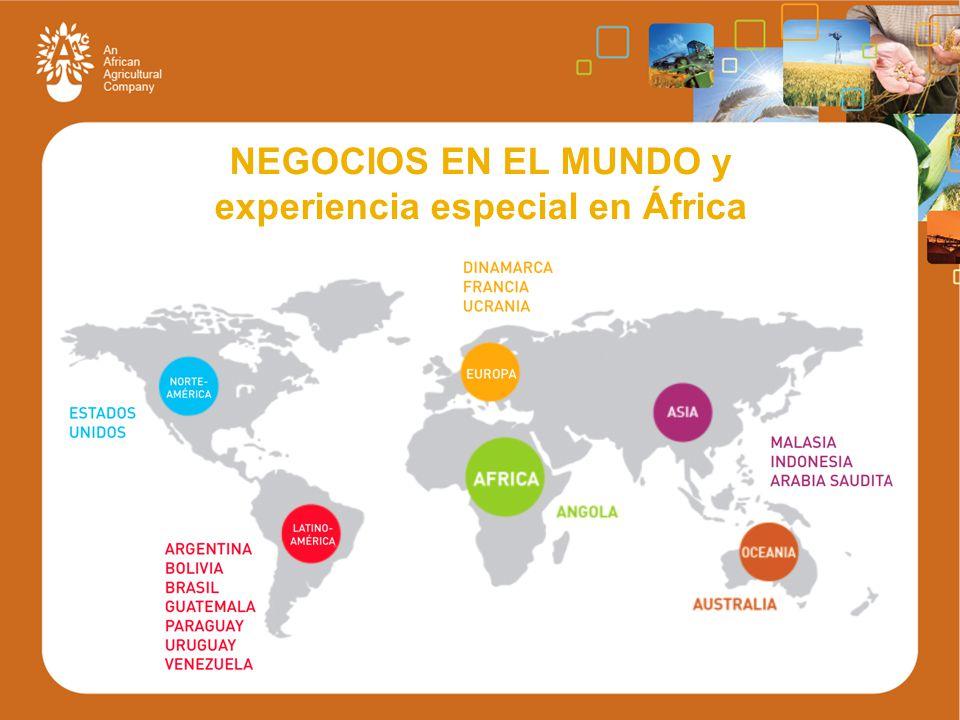 NEGOCIOS EN EL MUNDO y experiencia especial en África