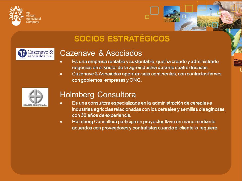 Cazenave & Asociados  Es una empresa rentable y sustentable, que ha creado y administrado negocios en el sector de la agroindustria durante cuatro décadas.